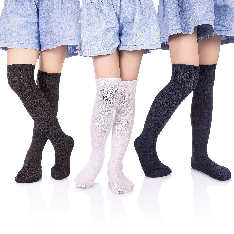 4212b51e533 BACK TO SCHOOL SOCKS- HERHILLY Socks Big Girls School Uniform Knee Highs  are the perfect socks for school uniform. Pair with skirts