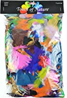 Touch of Nature 4 to 6-Inch Feather Value Pack for Arts and Crafts, 71gm, Assorted Color Mix