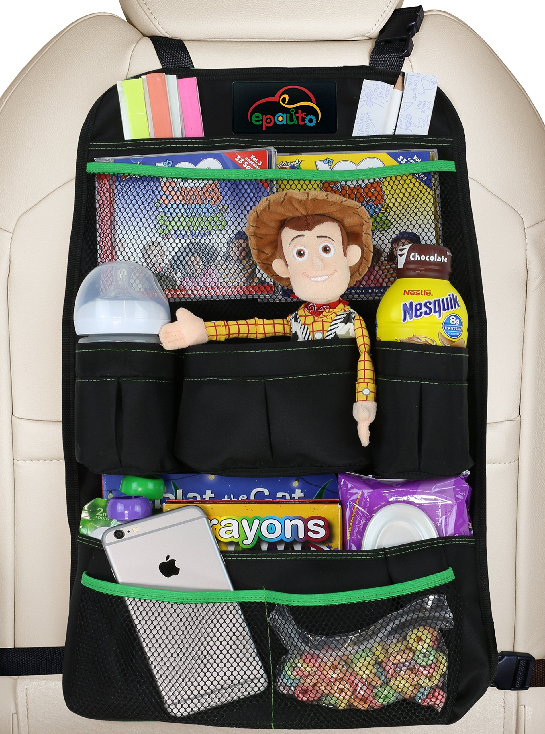 Toy Car Back Seat Organizer : Amazon munchkin backseat organizer black baby