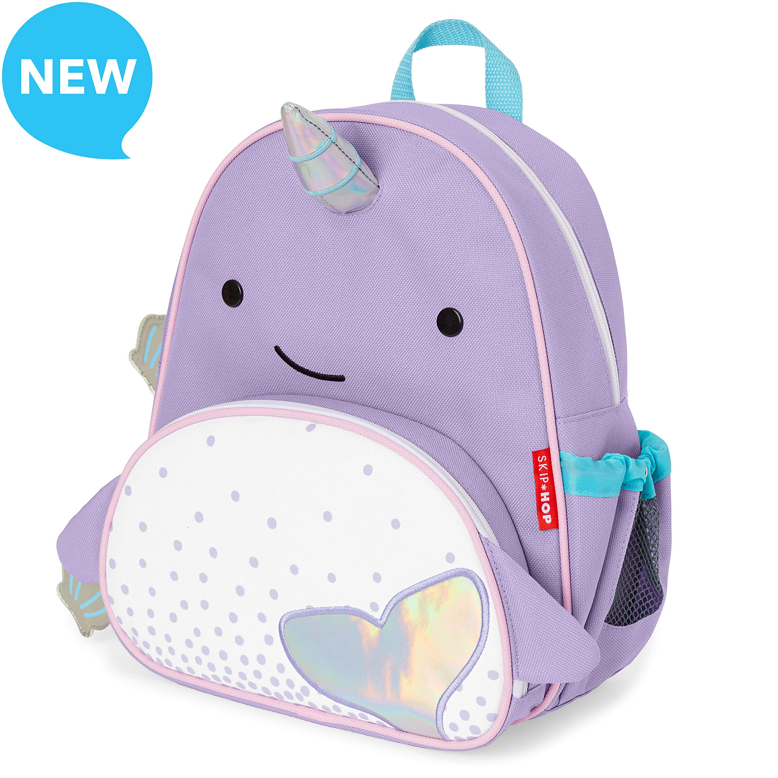 Skip Hop Toddler Backpack, 12'' Narwhal School Bag, Multi, 0.4 Pounds by Skip Hop (Image #1)
