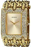 GUESS Gold-Tone Glitz Chain-Link Watch