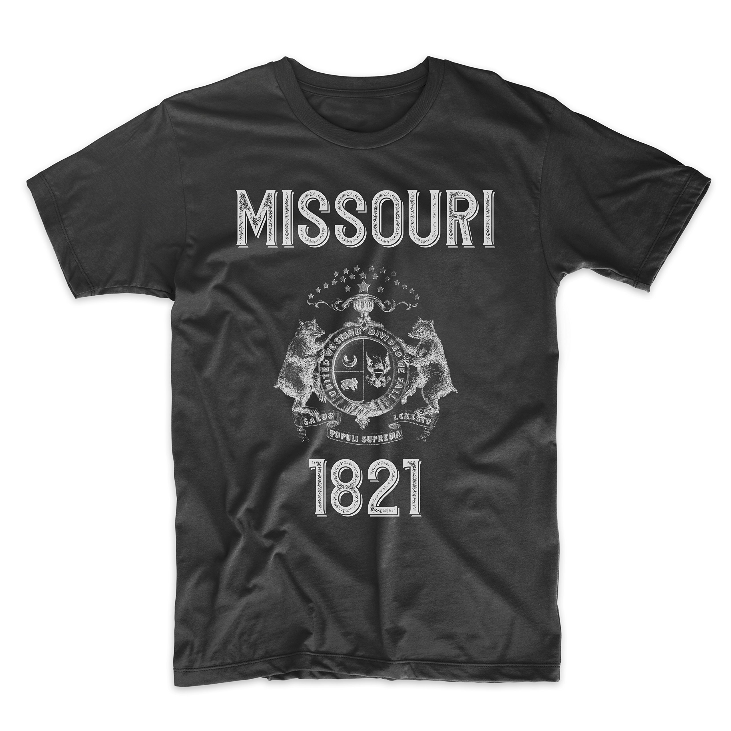 PatentPrints Missouri Coat of Arms T Shirt