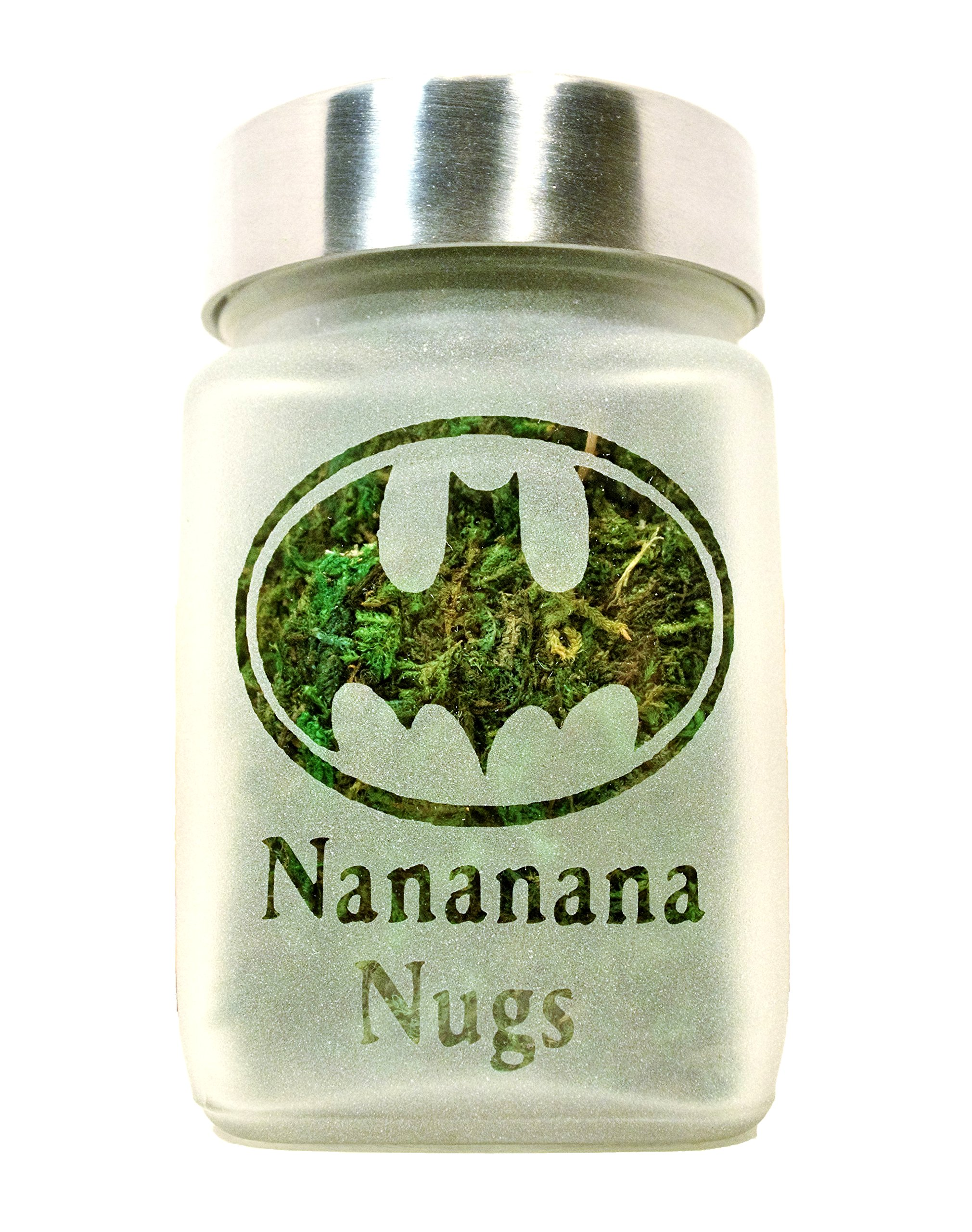 Retro Batman Stash Jar | Nananana Nugs Weed Jar and Weed Accessories | Stoner Gifts, Stash Jars & Stoner Accessories by Twisted420Glass (Image #1)