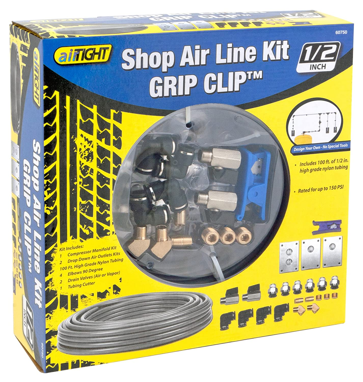 Performance Tool 60750 100 x 1//2 Grip Clip Shop Air Line Starter Kit
