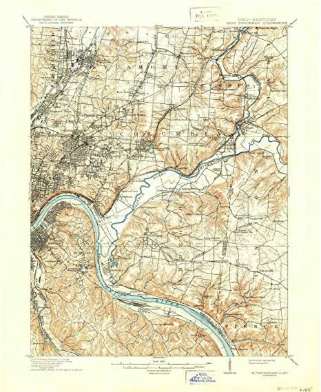 Amazon Com Yellowmaps East Cincinnati Oh Topo Map 1 62500 Scale