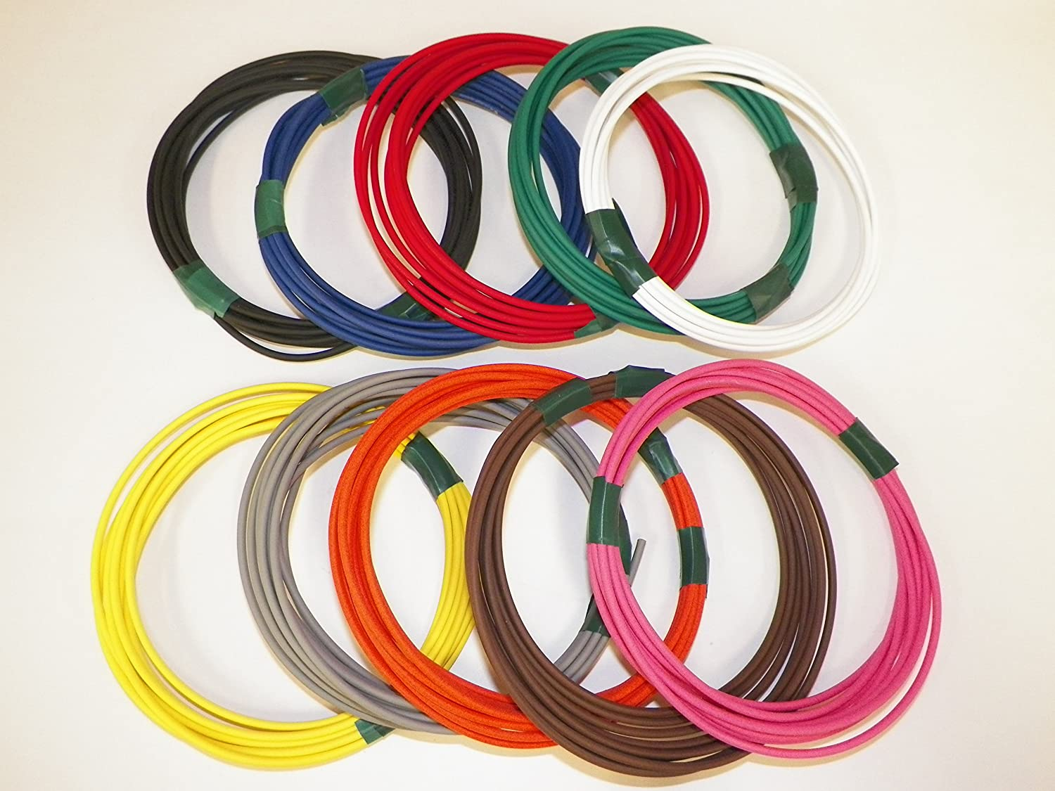 GXL AWG Automotive Copper Wire RV General Purpose Motorcycle Order by 3pm EST Shipped Same Day 10 Colors 25 Each GAUGE Truck 18 GA