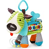 Skip Hop Bandana Buddies Baby Activity and Teething Toy with Multi-Sensory Rattle and Textures Stocking Stuffers, Puppy