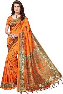17906167de8f5c Mrinalika Fashion Women s Art Silk Saree With Blouse Piece ...