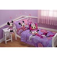 Deals on Disney 4-Pcs Minnie's Fluttery Friends Toddler Bedding Set