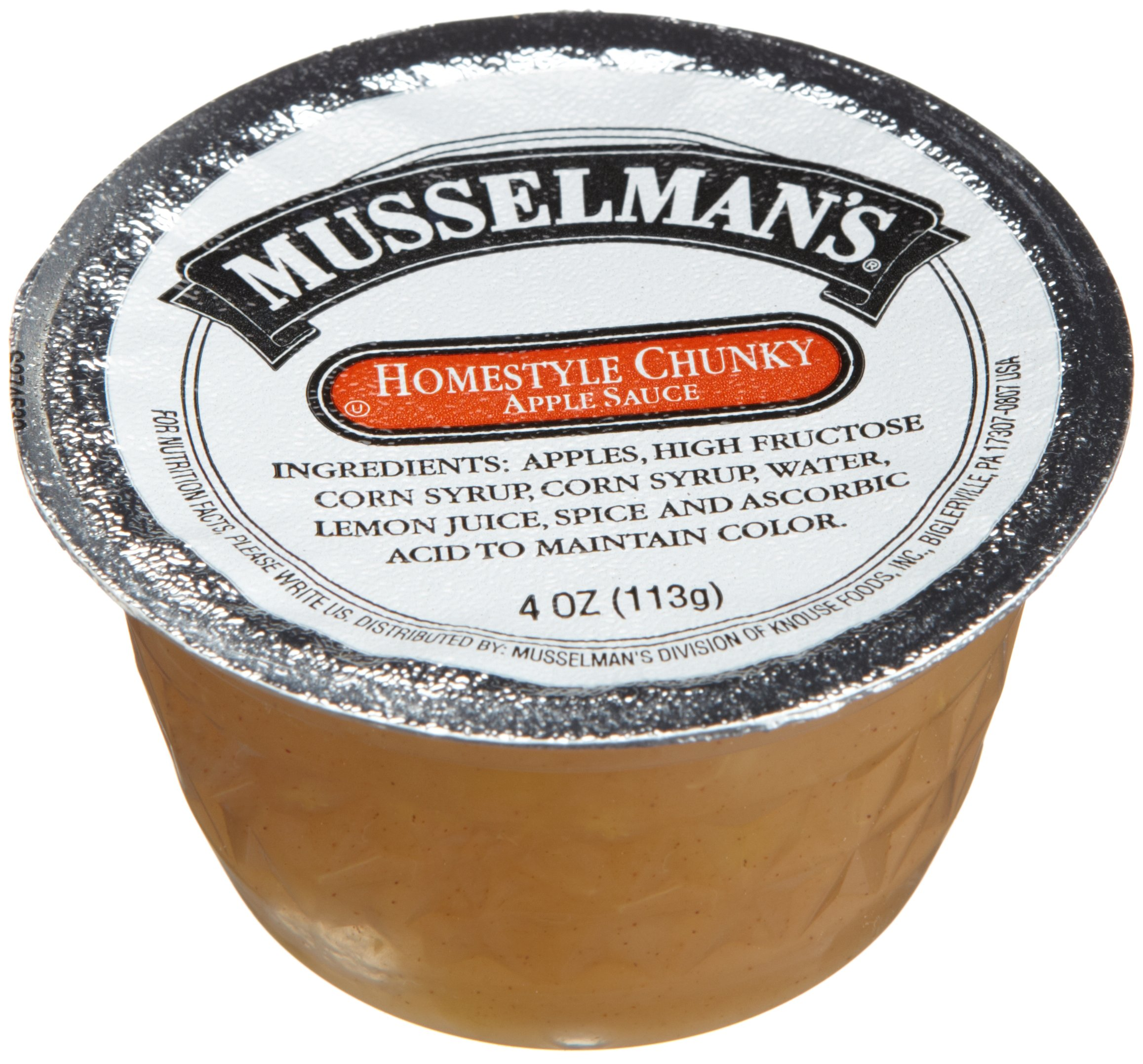 Musselman's Homestyle Chunky Applesauce, 4-Ounce Cups (Pack of 72) by Musselmans (Image #1)