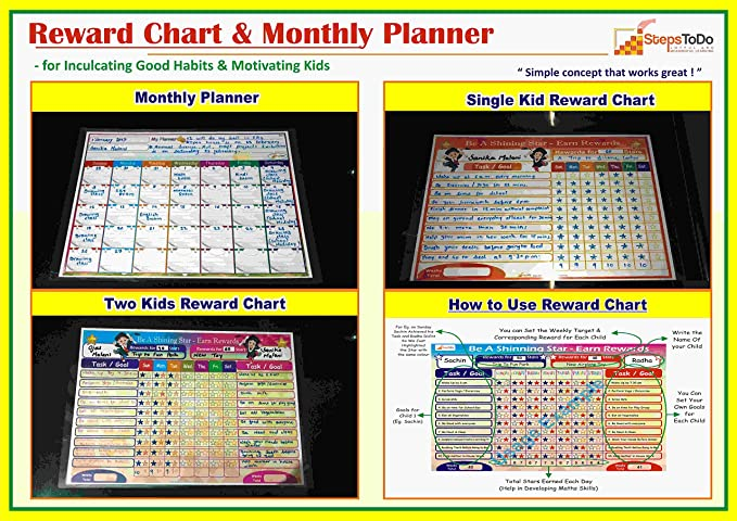 Buy Kutuhal Reward Chart And Monthly Planner Multicolour Online At