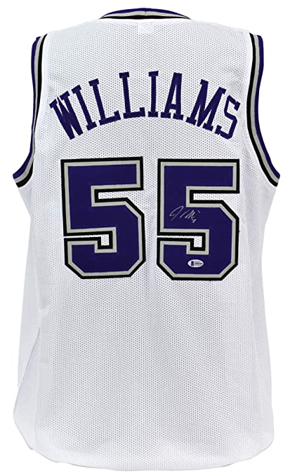 watch ab546 8e4a2 Amazon.com: Kings Jason Williams Authentic Signed White ...