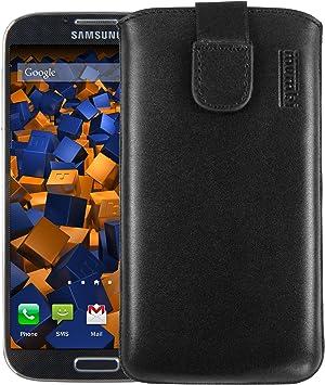 Mumbi - Funda de cuero para Samsung Galaxy S4, color negro: Amazon.es: Electrónica
