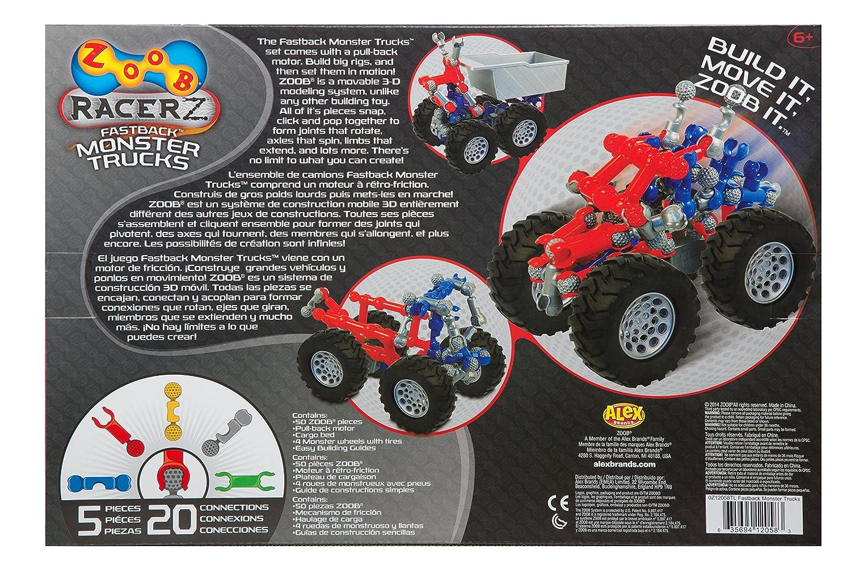 zoob fastback monster trucks construction set amazon co uk toys