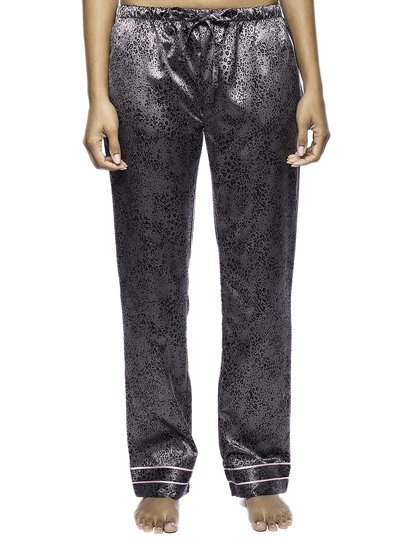 2ed6fbf014 Noble Mount Women s Classic Satin Lounge Pants at Amazon Women s Clothing  store