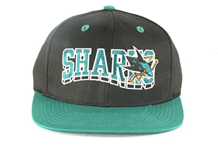 outlet store f6862 8d4f7 Image Unavailable. Image not available for. Color  SAN JOSE SHARKS NHL  ADULT VINTAGE SNAPBACK FLAT BRIM HAT ...
