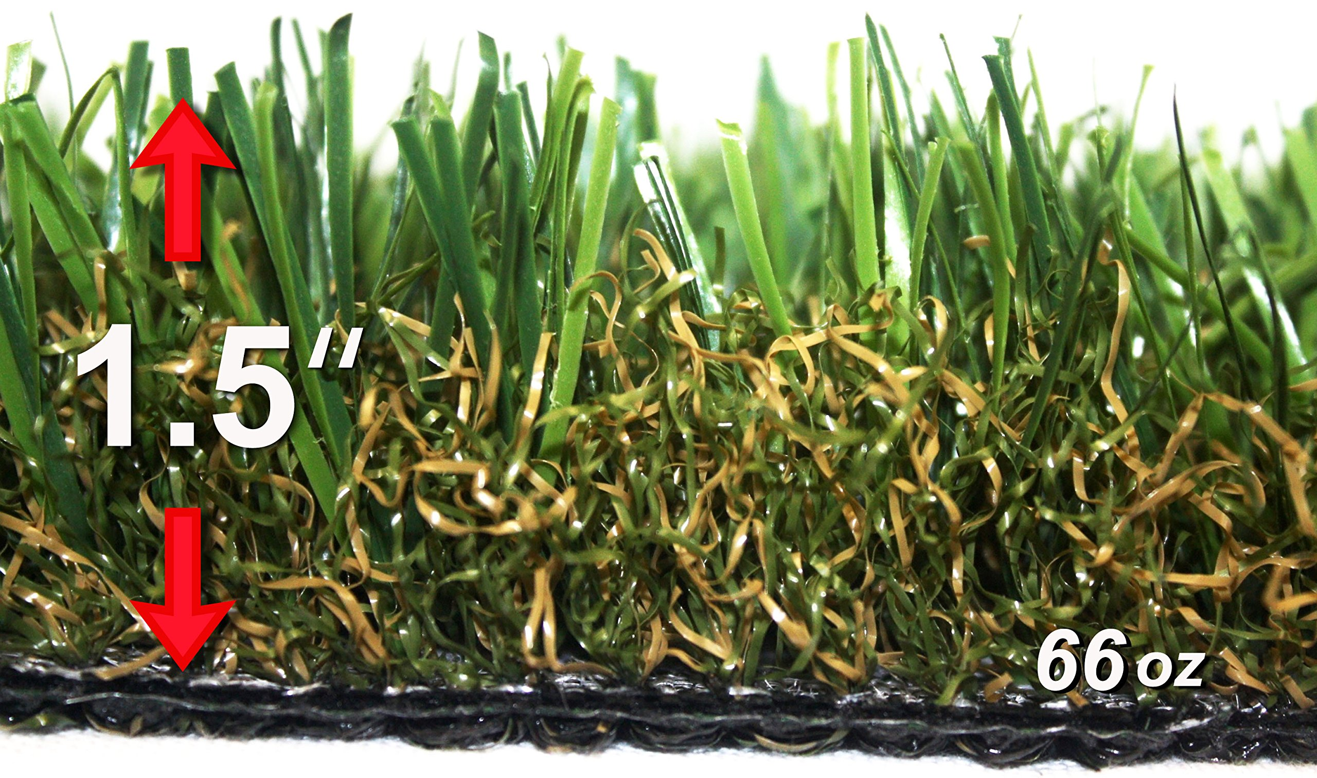 StarPro SPG-60 $2.35/sf ''Great'' Centipede SW Natural Artificial Synthetic Grass Lawn Turf, 18ftx15ft