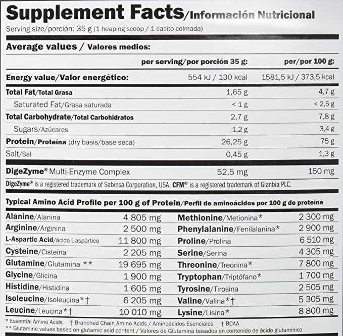 Amix Whey Pure Fusion Proteínas - 4000 gr_8594159532908