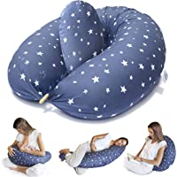 Bamibi Nursing Pillow and Positioner - Multi-Use Breastfeeding Pillow for Baby and Body Pillow for Pregnancy with…