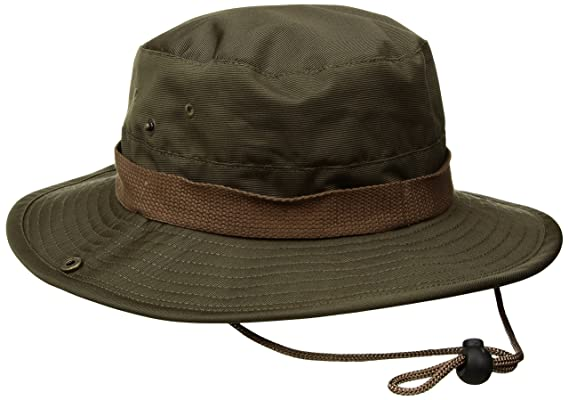 ee528eb548b360 Amazon.com: Brixton Men's Ration Medium Brim Bucket Hat: Clothing