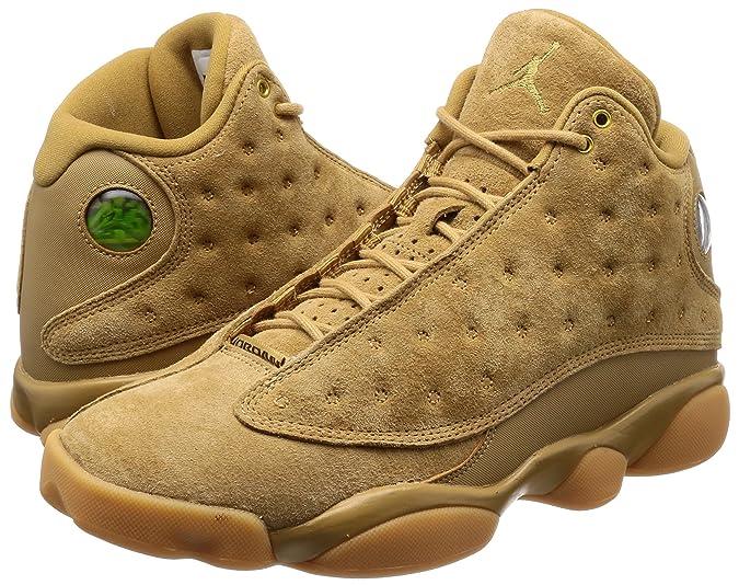 21f60b18d91 Amazon.com | Jordan Air 13 Retro Wheat Casual Shoes Mens Elemental  Gold/Baroque Brown New 414571-705 - 11 | Basketball