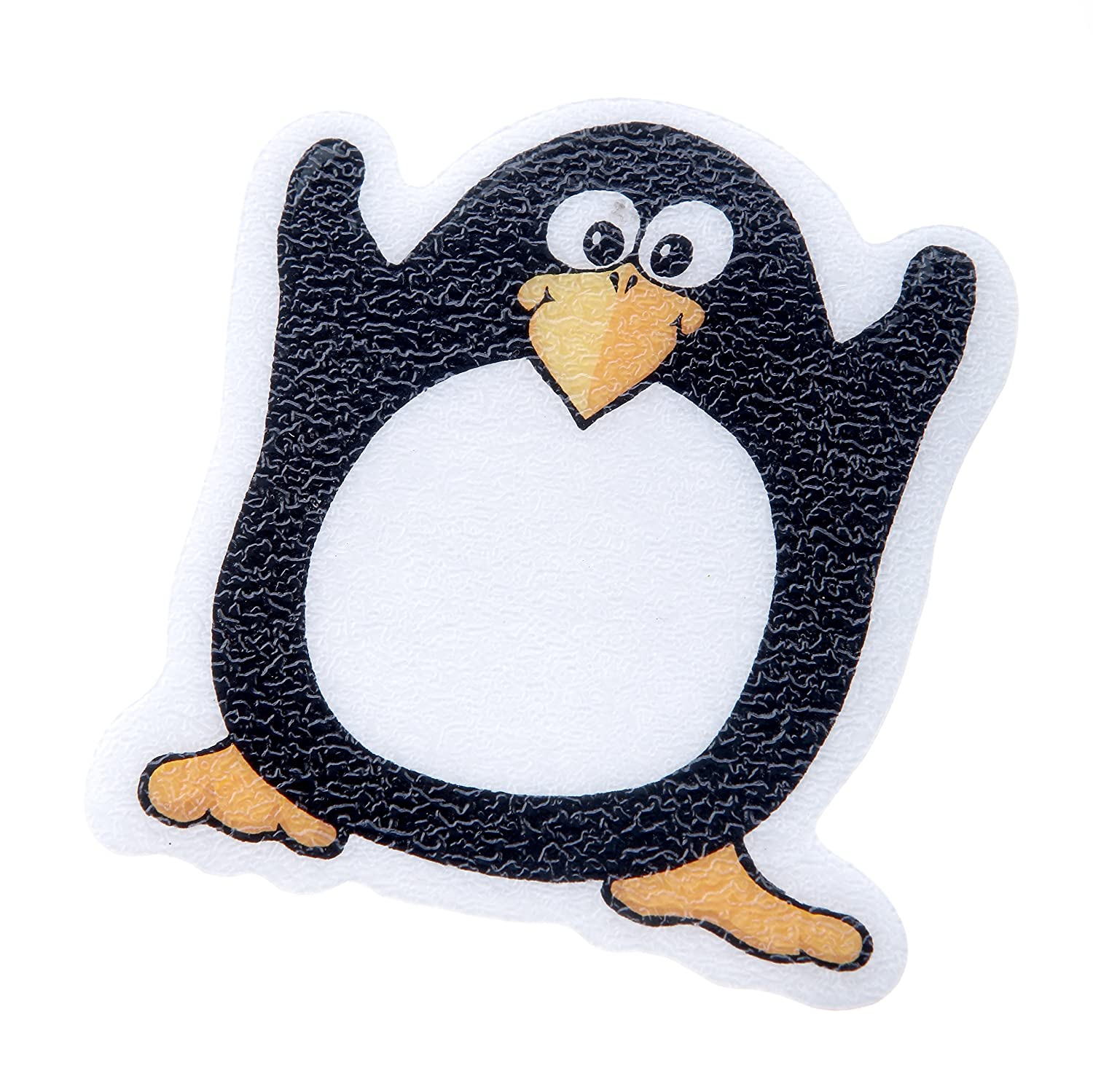 SlipX Solutions Adhesive Bath Treads: Penguin Tub Tattoos Add Non-Slip Traction to Tubs, Showers & Other Slippery Spots (Kid Friendly, 5 Count, Reliable Grip)