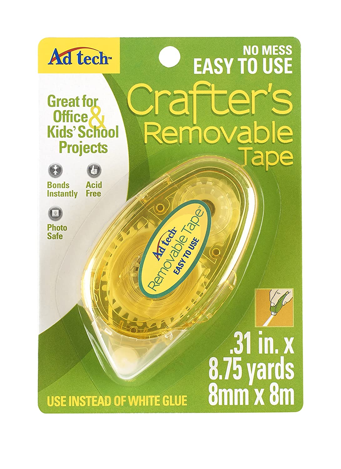 Crafter's Tape Repositional Glue Runner-.31X315 Ad-Tech 05632