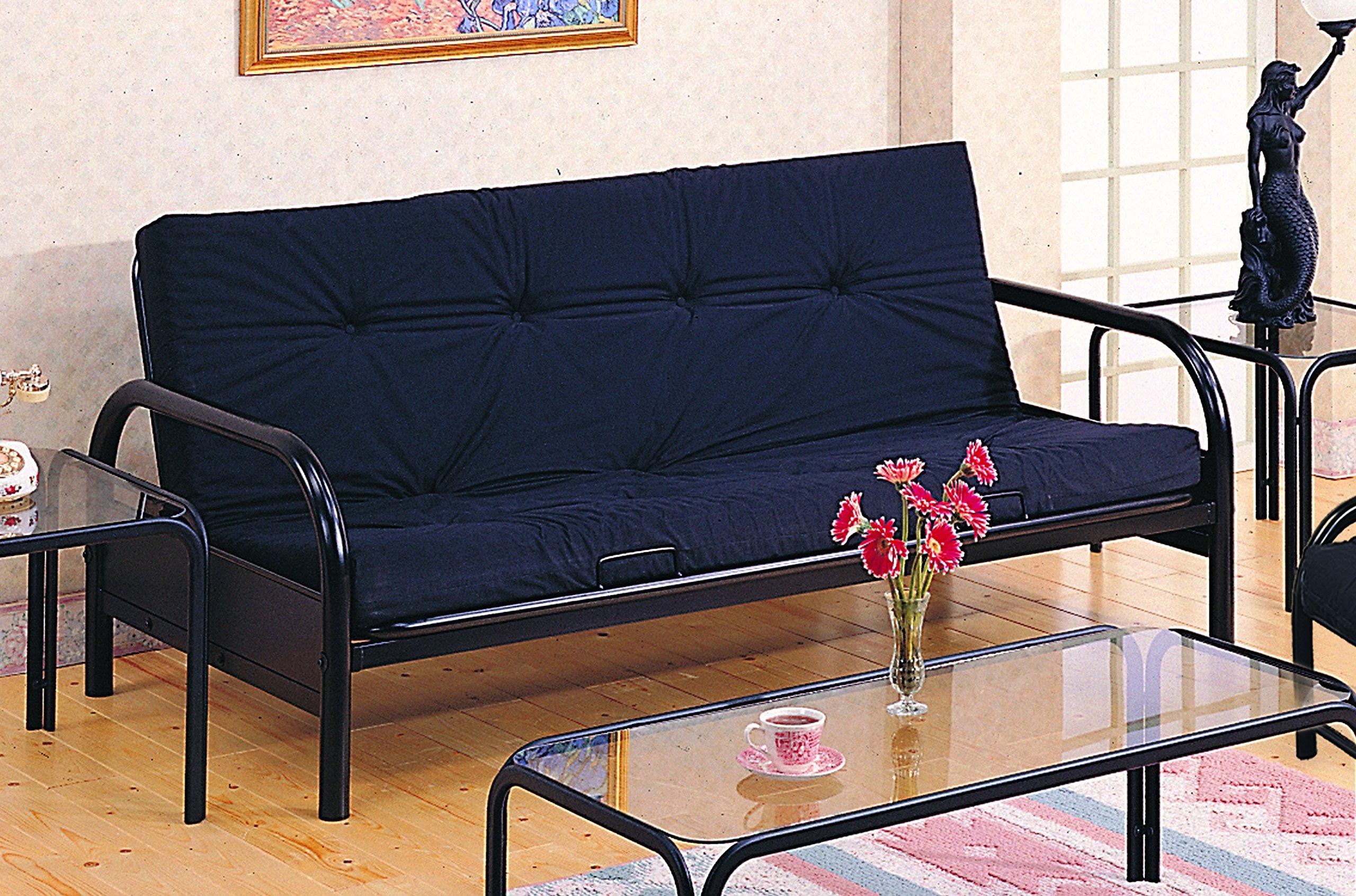 Metal Futon Frame Glossy Black by Coaster Home Furnishings
