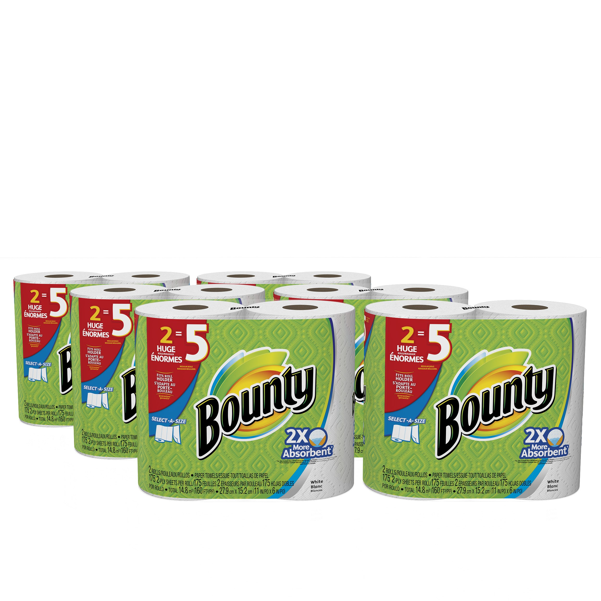 Bounty Select-A-Size Paper Towels, 12 Huge Rolls by Bounty (Image #2)