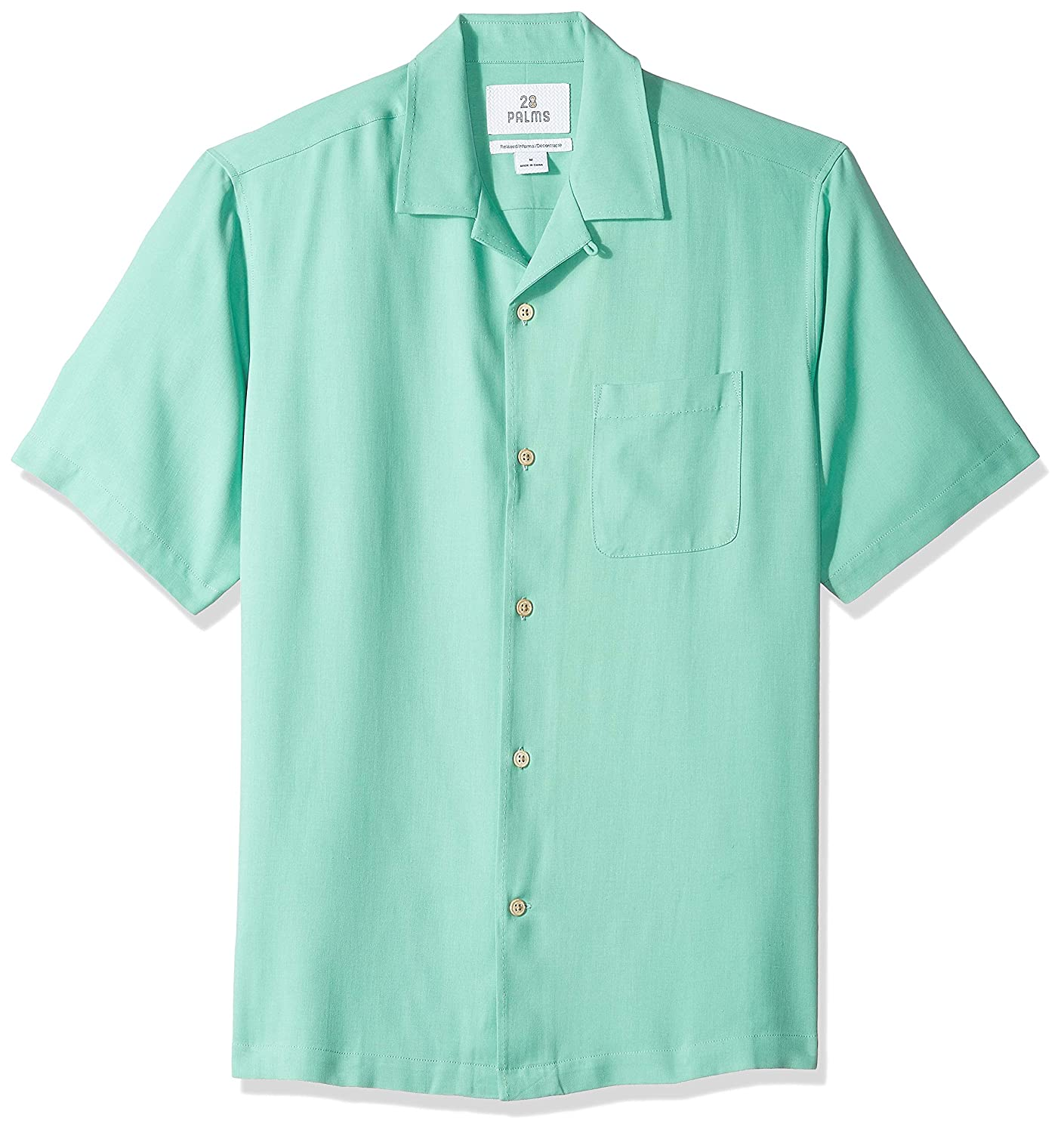 28 Palms Mens Relaxed-Fit Camp Shirt Brand