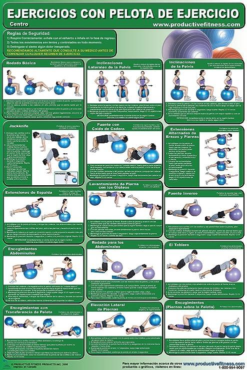 Amazon.com : Ejercicios con pelota de ejercicio Centro ...