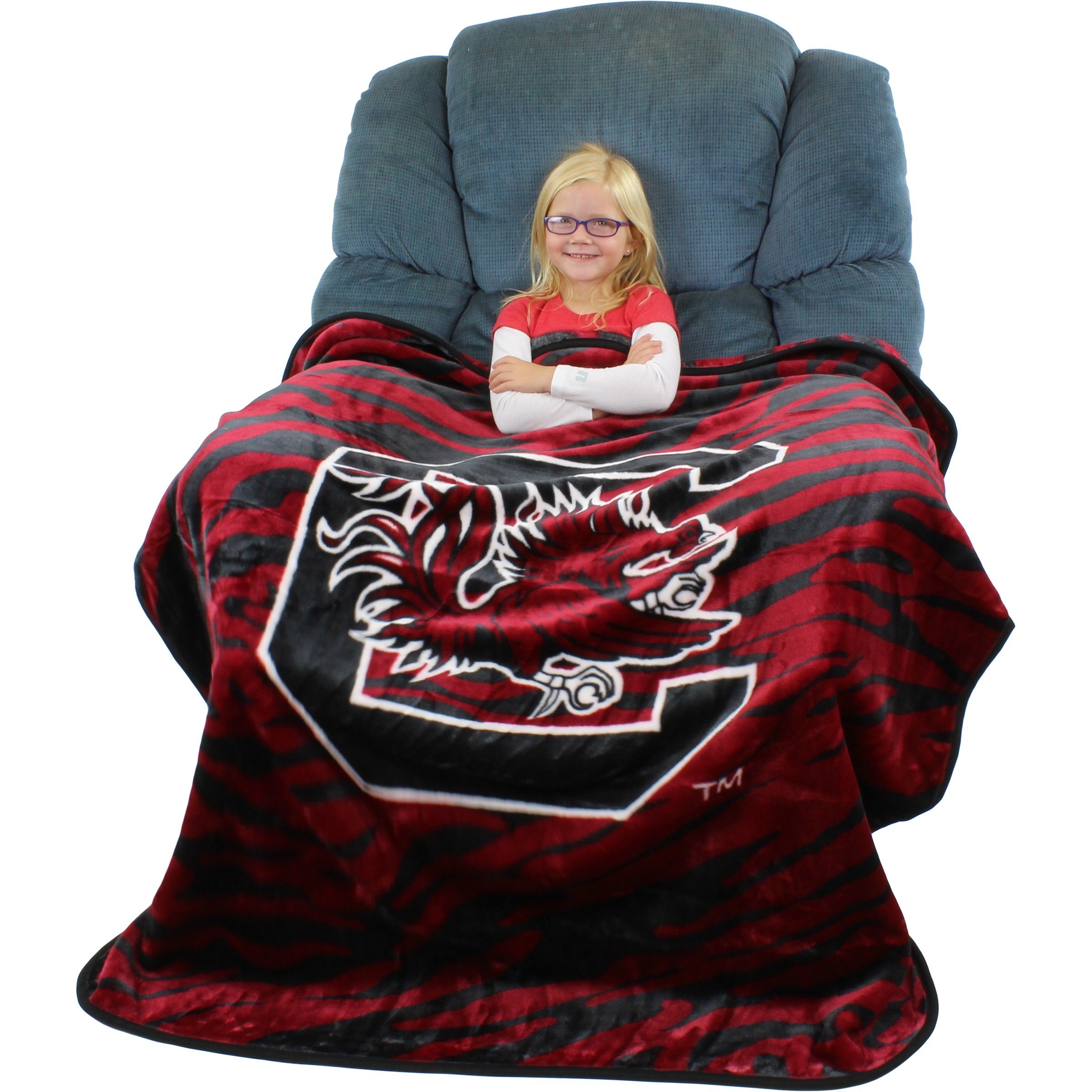 College Covers South Carolina Gamecocks Super Soft Raschel Throw Blanket, 50'' x 60''