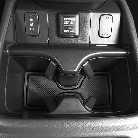 Door Custom Fit Cup Solid Black Console Liner Accessories 2019 2018 2017 Honda CR-V CRV