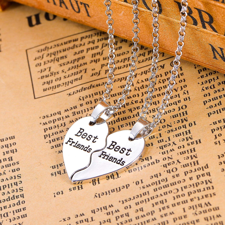 Housweety Freundschafts-Halskette Forever Halskette Best Friend Anh/änger Herz Brechen Puzzle f/ür Damen M/ädchen