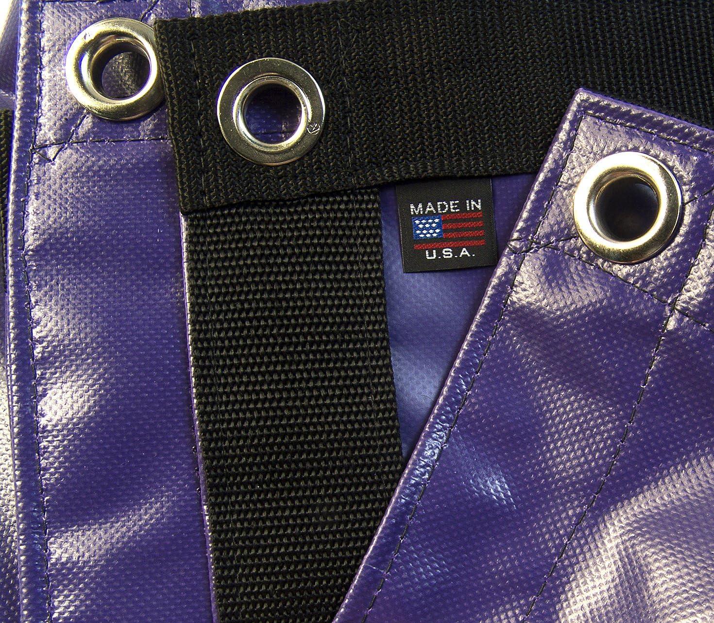 Waterproof Purple Heavy Duty Tarp Vinyl w// Reinforced Edges 18 Oz