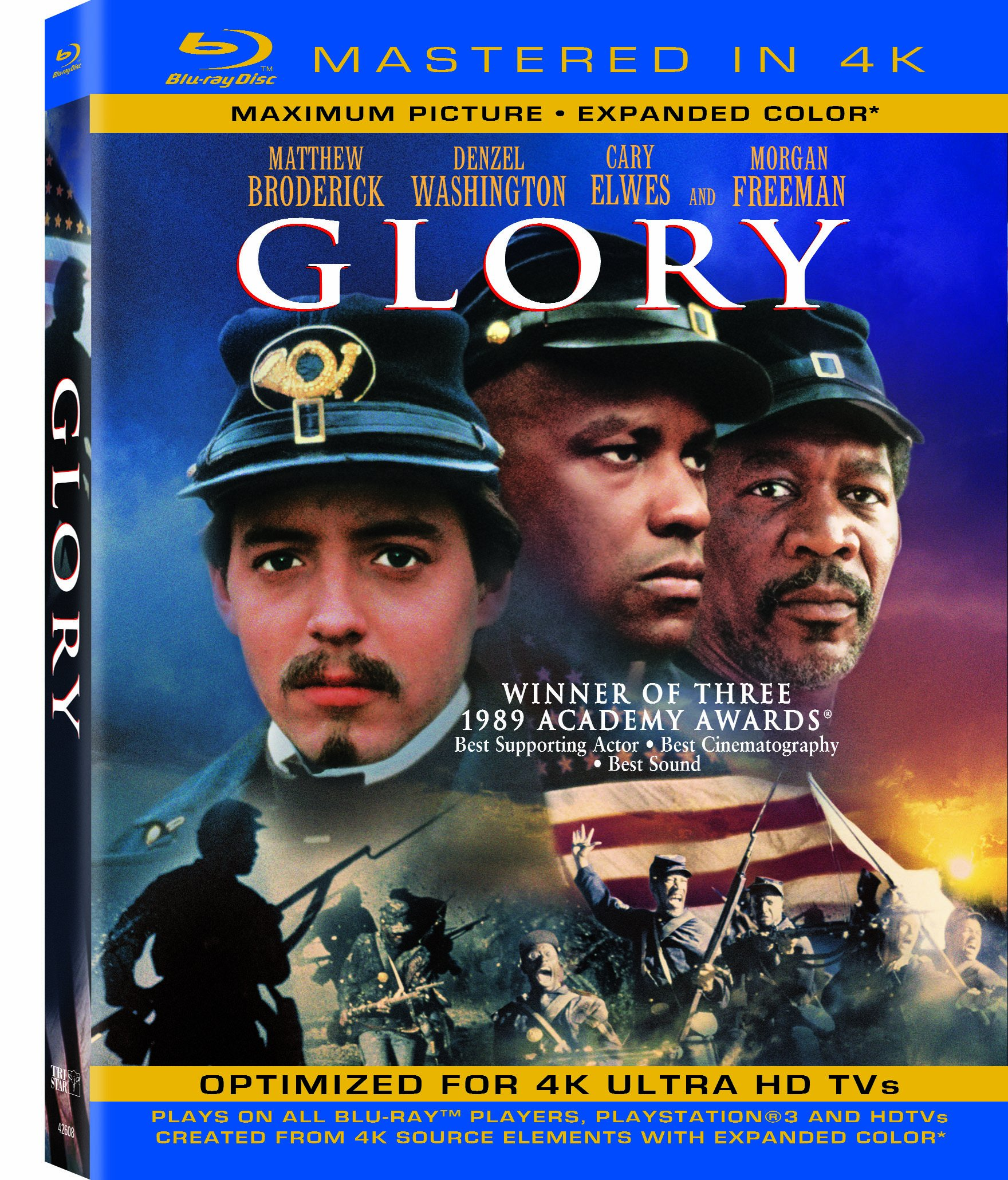 Blu-ray : Glory (4K Mastering, Ultraviolet Digital Copy, , Dolby, AC-3)