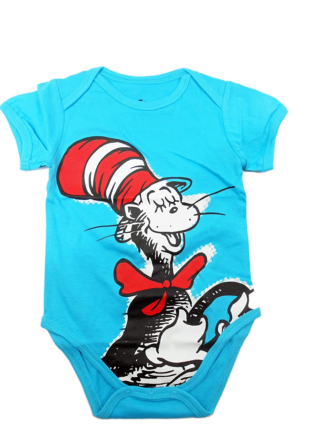 7c0be1667 Amazon.com: Bumkins Newborn Dr. Seuss The Cat in The Hat Graphics Short  Sleeve Bodysuit (9M): Baby
