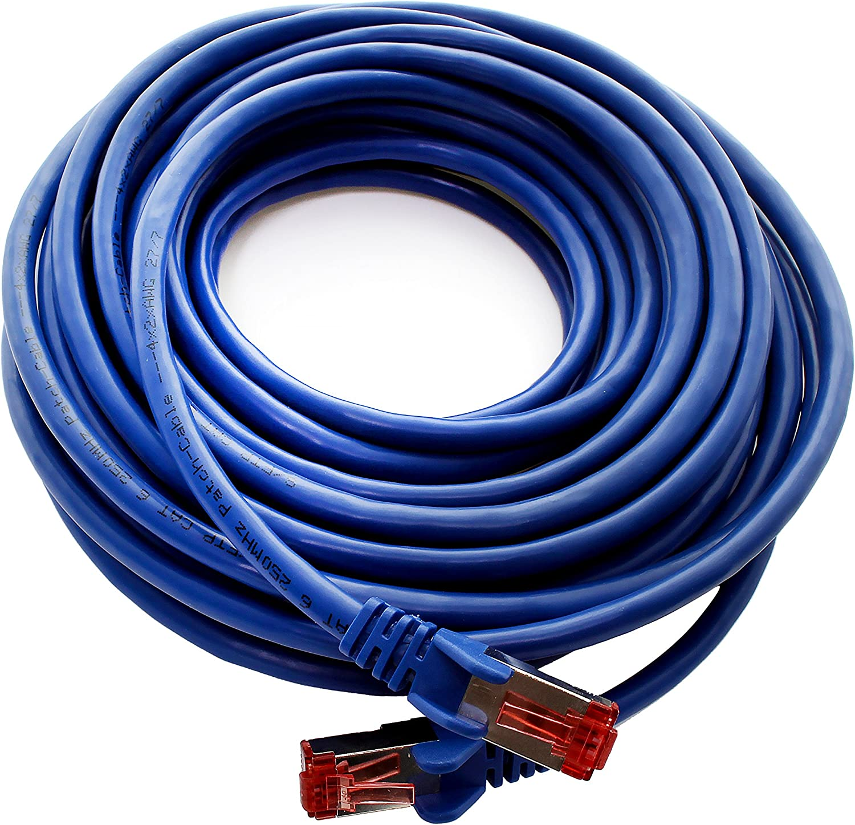 5 x Patchkabel LAN Cat 6 LAN Netzwerk Kabel Sftp Pimf Lszh Kupfer 1000 Mbit s 1CONN Cat6 Netzwerkkabel 2m blau