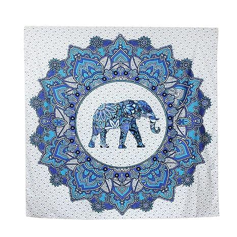 Toallas de playa, servilletas Mandala Indian Beach hippie Internet Mat Yoga Mat Tabla Mat elefante