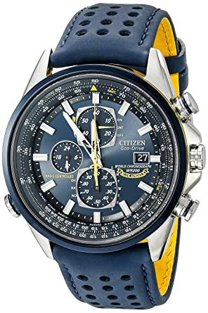 5d6cec36828 Image Unavailable. Image not available for. Color  Citizen Men s Eco-Drive  Blue Angels World Chronograph Atomic Timekeeping Watch ...