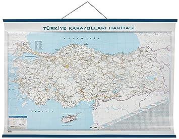 Gürbüz 22074 Türkiye Karayolları Haritası 70 X 100 Cm Amazoncomtr