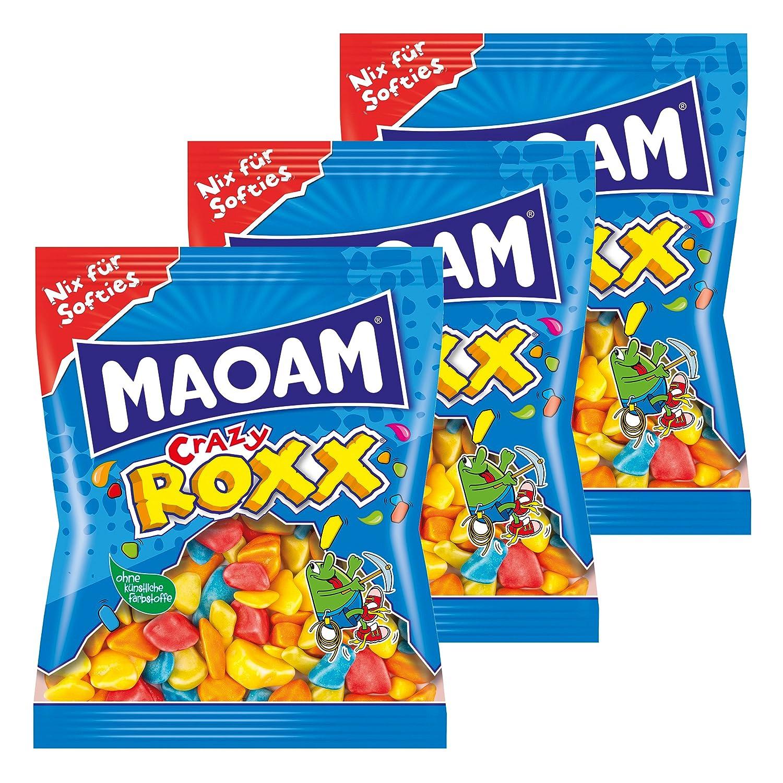 Haribo maoam Crazy Roxx - , Juego de 3, kaubonbon, sauer ...