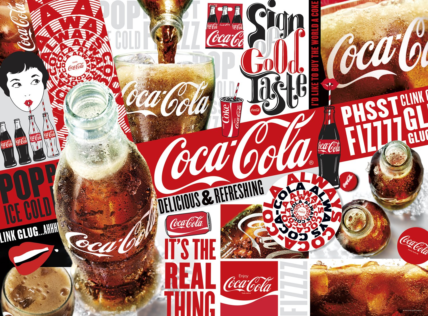 Buffalo Games 11277 CocaCola  the Real Thing  1000 Piece Jigsaw Puzzle