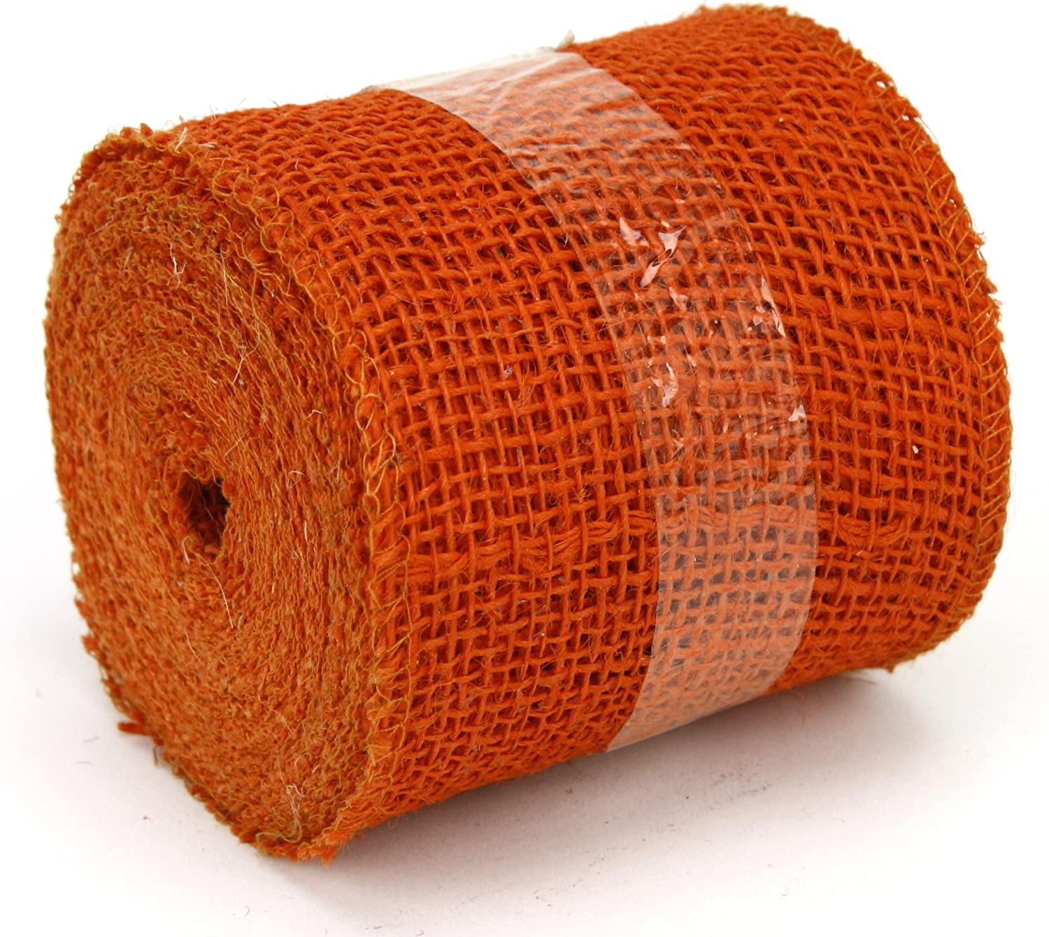LIOOBO Burlap Ribbon Craft Ribbon Rustic Jute Ribbon Roll Gift Wrapping for Vintage Wedding Christmas Decor Floral Bows Trims Wreath Craft Red