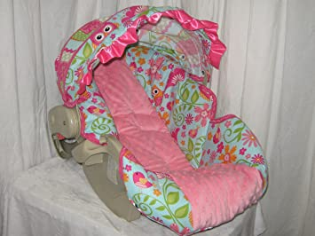 Chevron And Dot Owl Graco Snugride Carseat Cover Canopy