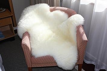 astar white real sheepskin rug 2x3 single pelt sheep skin fur rug