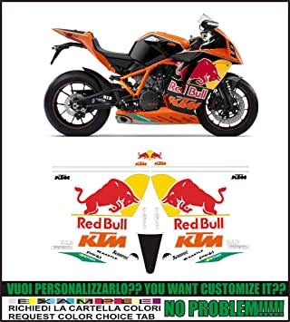 Amazoncom EMANUELCO Decal Stickers KTM Rc Replica Red Bull - Red bull motorcycle custom stickers