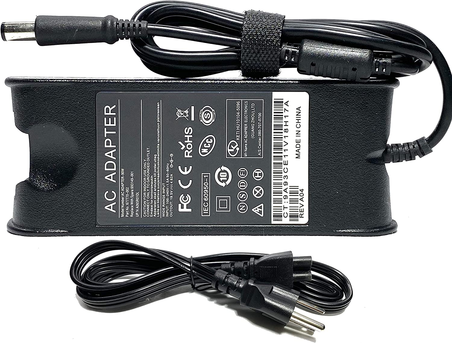 AXOSIS Charger AC Adapter for Dell Latitude E4300 E4310 E5400 E5410 E5500 E5510 E6420 E6400 Dell Inspiron 11 13 14z 14R 15R 17 fits P/N PA10 PA-1900-02D 19.5V 4.62A 7.4x5.0MM