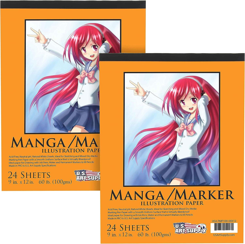 Papel para Manga 100 gr. 23 x 30 cm (Pack de 2. 24 hojas)