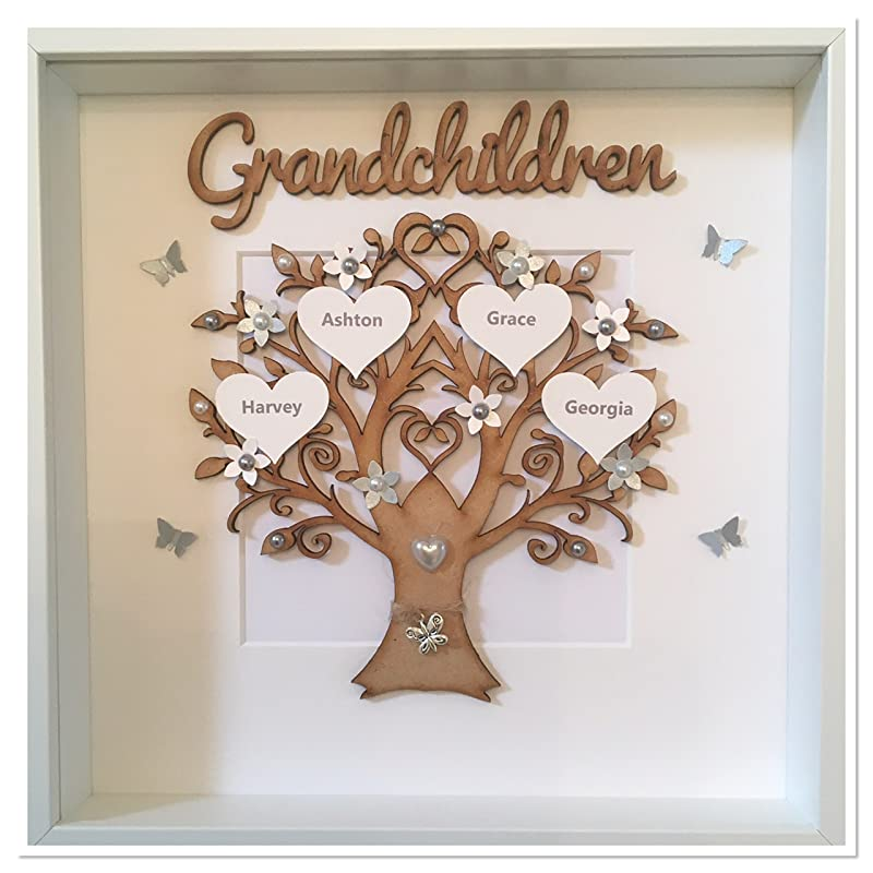 Large family tree Hand Made Personalised Frame Up To 20 Names
